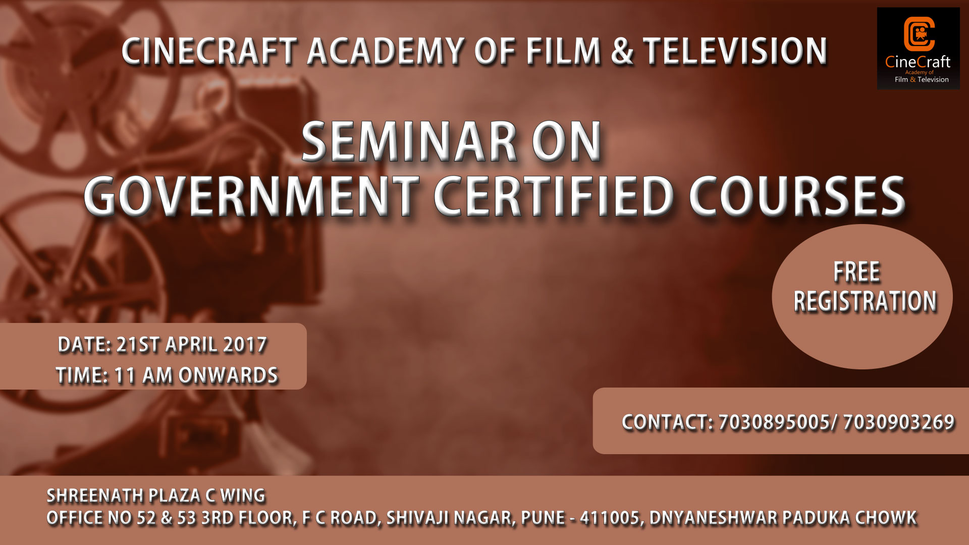 FREE PHOTOGRAPHY SEMINAR ON GOVERNMENT CERTIFIED COURSES